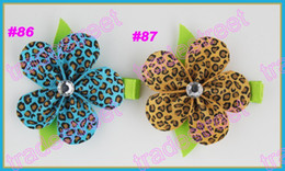 free shipping 500pcs pretty petal flower clip new loopy flower clips mix color baby hair bows red