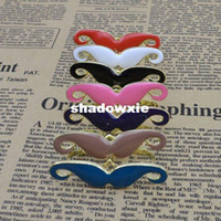 Wholesale Min order is mix order Fashion jewelry enamel beard moustache two double fingers ring mix color o R441
