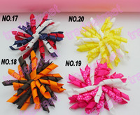 Wholesale NEw popular corker hair bows SEW ones Corker bows korker hair clips boutique corker hair clips blue