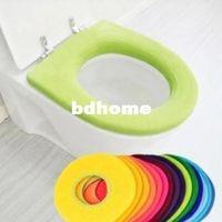 Cheap 2pcs lot Bathroom Warmer Toilet Closestool Washable Soft Seat Cover Mat Pad Lid