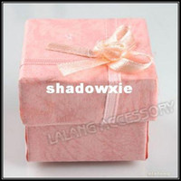 Wholesale Cute Pink Square Paper Gift Boxes Jewelry Pack Gift Boxes Ring Box x4cm