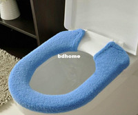Cheap BIG PROMOTION ! Warmer Toilet Washable Cloth Seat Cover Pads Lycra Use COLOR RANDOM JHB-253
