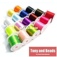 Wholesale Meter Rolls mm Crystal Stretchy Elastic Craft Bracelet Beads Thread Cords Wire Colors In Total for Jewelry Making