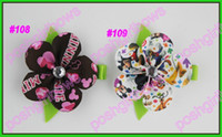 Hair Clips Cotton 1-50piece/lot free shipping popular 1000ps petal flower clips loopy flower clips silk flower clips rose ribbon hair bows
