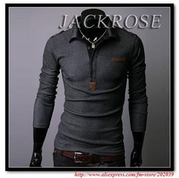 Wholesale Men s long sleeve Slim polo Shirts