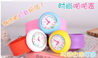 Fashion slap - 2014 New arrival children s slap watch kids watch gift watches many colors HOT SALE