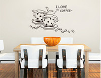 Wholesale Bedroom sitting room sofa TV setting wall stick a hand drawn sketches of coffee