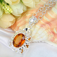 2 pcs lot 925 sterling silver brazil citrine china pendant n...