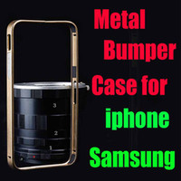 Wholesale Hot Selling Luxury Aluminum Metal Bumper Case Thin mm Frame Bumper Cases For iPhone S S C For Samsung galaxy waitingyou