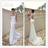HOT SALE! Mermaid Style White Lace Wedding Dress Best Weddin...