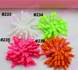 free shipping 1000pcs 3.5'' korker bows (SEW ONES) mix korker hair bows girl hair clips korker clips