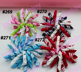free shipping 45pcs 3.5'' korker bows (SEW ONES) mix korker hair bows girl hair clips korker clips