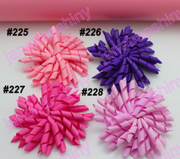 free shipping 90pcs 3.5'' korker bows (SEW ONES) mix korker hair bows girl hair clips korker clips