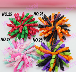 free shipping 200pcs 3.5'' korker bows (SEW ONES) mix korker hair bows girl hair clips korker clips