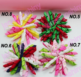 free shipping 20pcs 3.5'' korker bows (SEW ONES) mix korker hair bows girl hair clips korker clips