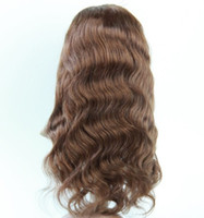 Wholesale High quality body wave human hair full lace wigs quot quot in stock its really the indian remy curly full lace wigs best black women lace wigs