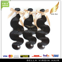Wholesale 8 inch Indian Virgin Hair Weave Human Hair Weft Off Natural Color Hair Extensions Body Wave Wavy DHL Bella