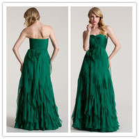 Reference Images Tiered Sleeveless QM-2014 Fast Delivery Cheap Bridesmaid Dress Sexy Sweetheart Neck Ruched Corset Empire Waist Long Tiered Lime Green Maid Of Honor Dresses