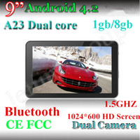 Wholesale Bluetooth Inch Allwinner A23 HD Tablet PC GHZ mah Dual Core GB GB Capacitive dual camera android tablet pc NEW