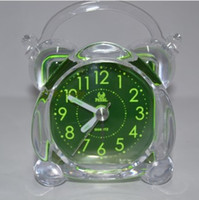 Cheap Green mini fashion classical table alarm clocks desk bell ring alarm clock for promotion gifts for home decoration