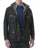 Jackets designer jackets for men - Designer Waxed Jacket For Men Black High Quality EMS