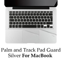 Wholesale Palmguard Palmrest Trackpad Wrist Protector For MacBook Air Pro Retina Silver Track Pad Sticker Free DHL