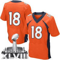 Wholesale 2014 Super Bowl XLVIII Broncos Peyton Manning Elite Jerseys New Style Football Jerseys American Football Champions Gear Brand Sportswear