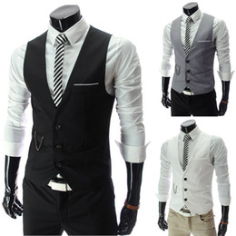 Wholesale Men s Slim Fitted Leisure Waistcoat Vest Casual Business Tops Adeal