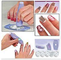 Cheap 1 set Salon Nail Art Express Decals Stamp Stamping Polish Design Kit Set Decoration