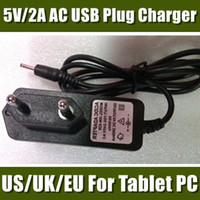 Wholesale Charger for tablet V A DC mm EU US UK Plug Converter Charger Power Supply Adapter for Allwinner A23 A13 Q88 G Phone Call San CDQ