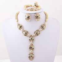 Cheap Latest design african costume jewelry set for women 4 pcs gold filled jewelry set
