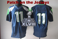 Wholesale Seahawks Super Bowl XLVIII Sportswears Harvin World Cup Collectible Athletic Jerseys Stitch Logo Sports Clothing with Super Bowl Patch