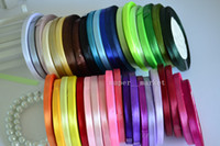 Wholesale 6mm Satin Ribbon Wedding Gift Wrap Wedding Ribbons Sashes Party Decoration yards