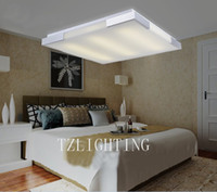 Wholesale Modern Simple Romantic Bedroom Ceiling Lamp Aluminium Ceiling Lamp Living Room Acrylic Ceiling Lamp Silvery Square Rectangle Chandelier