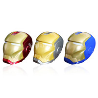 Wholesale New Arrivals Iron Man Portable Wireless Mini Bluetooth Speaker Subwoofer Support TF card U Disk FM radio For iphone Samsung ipad Tablet PC