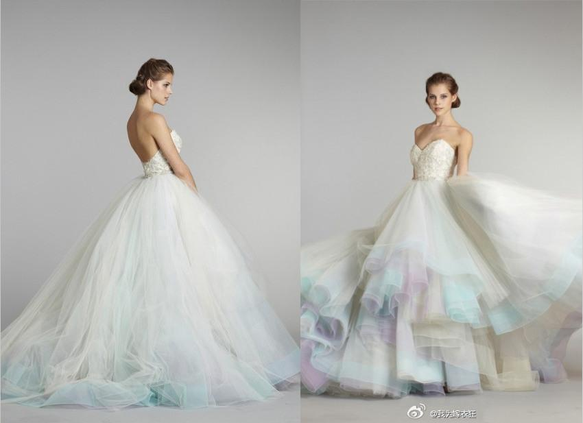 2014 unique designs bridal ball gowns strapless sweetheart for Unique colorful wedding dresses