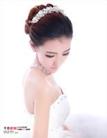 Rhinestone/Crystal arabic wedding rings - Luxurious Elegant New Rhinestone Arabic Bridal Hair Crown Tiara Hair Wedding Jewelry Ear Ring Accessory Crystal Pearl Necklace