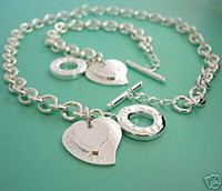 Wholesale 2014 new style Jewelry Sets Bracelet Necklace hot sell silver hot sell