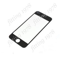 iphone For Apple iPhone  5 pc Hot sale Front outer touch screen glass lens digitizer cover replacement part for iphone 5G 5S 5C white and black color free shipping