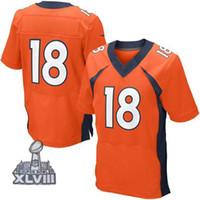 Wholesale 2014 Broncos Manning Orange Mens Elite Jerdeys Cheap American Football Jerseys Brand Sports Jerseys For New Season Hot Sale