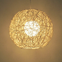 Wholesale Indoor Lights European style Pendant Lamps Ball Rattan organizational lighting A019 V W H1672