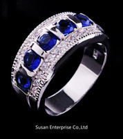 Wholesale Fashion jewelry men s and women s KT white Gold Filled masonic ring size6