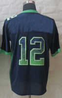 Cheap 2013 New American Football Jerseys #12 Fan Drift Fashion Blue Elite Jerseys Cheaper