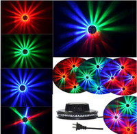 Auto strobe Blue EU 10pcs Dropship Colorful Sunflower LED Stage Light Dynamic Magic Lighting RGB Effect Disco DJ Party KTV Room Stage Wall Decorative Lamp