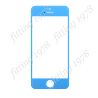 iphone For Apple iPhone  50 pcs lot High Quality Front Outer Glass Lens Touch Screen Cover for iPhone 5G 5S 5C Repair Replacement Parts Six Color