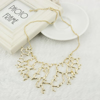 Wholesale Punk Style Bib Statement Necklace Coral Shape New Trendy Chokers XL527