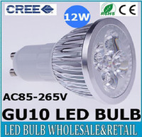 Wholesale High Power CREE GU10 W LED Spotlight led lighting led bulb V