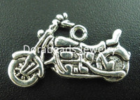 Free Shipping! 30PCs Antique Silver Motorcycle Charms Pendan...