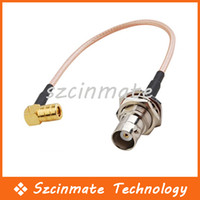 Wholesale quot RF Pigtail BNC Female to SMB Male Right Angle Coaxial Cable RG316