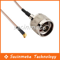 Wholesale CM RF Pigtail N Plug to MMCX Plug Right Angle Coaxial Cable RG316